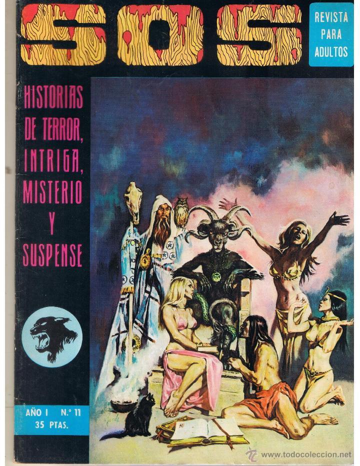 S. O. S. HISTORIAS DE TERROR, INTRIGA, MISTERIO Y SUSPENSE. AÑO I. Nº 11. EDIVAL 1975 (RF.MA) (Tebeos y Comics - Valenciana - S.O.S)