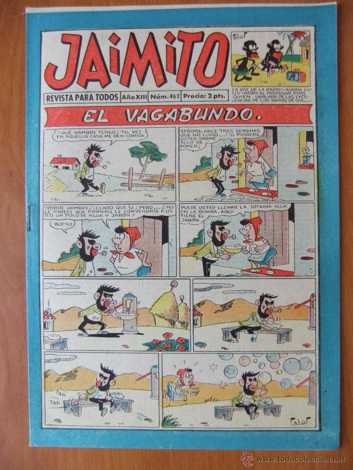 JAIMITO Nº 462 EDITORIAL VALENCIANA MAGNIFICO ESTADO (Tebeos y Comics - Valenciana - Jaimito)