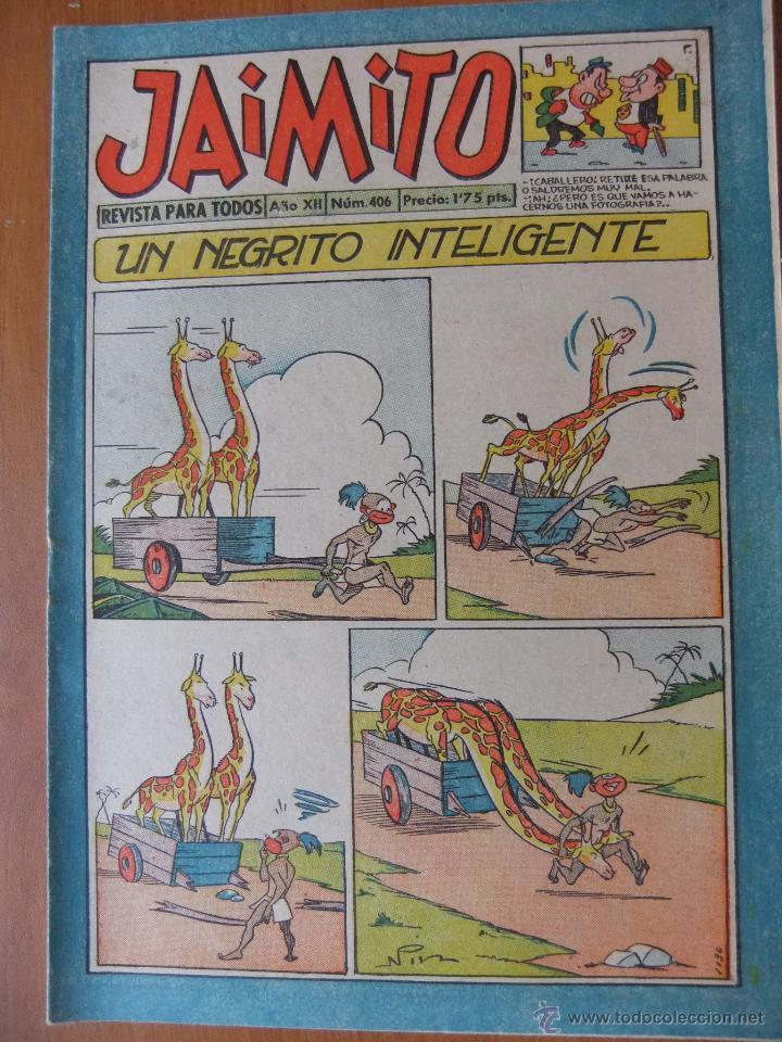 JAIMITO Nº 406 EDITORIAL VALENCIANA MAGNIFICO ESTADO (Tebeos y Comics - Valenciana - Jaimito)