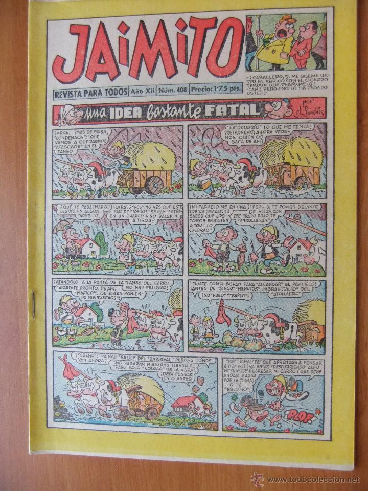 JAIMITO Nº 408 EDITORIAL VALENCIANA MAGNIFICO ESTADO (Tebeos y Comics - Valenciana - Jaimito)