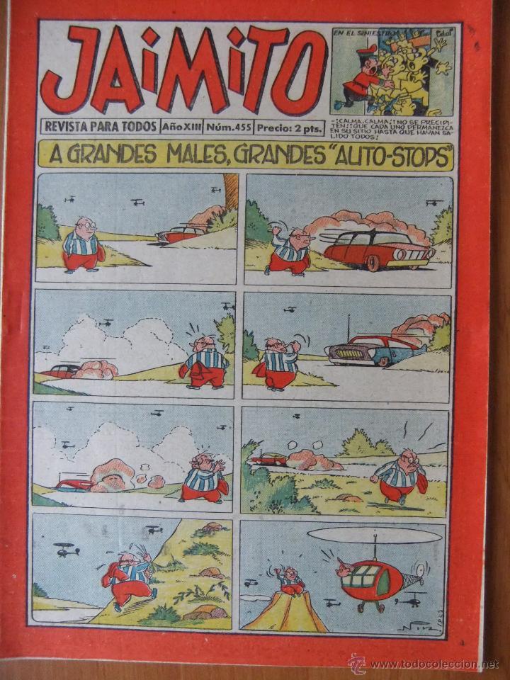 JAIMITO Nº 455 EDITORIAL VALENCIANA MAGNIFICO ESTADO (Tebeos y Comics - Valenciana - Jaimito)