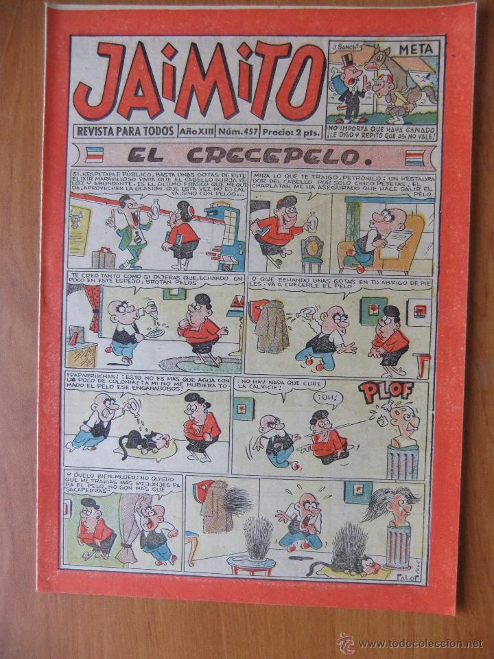 JAIMITO Nº 456 EDITORIAL VALENCIANA MAGNIFICO ESTADO (Tebeos y Comics - Valenciana - Jaimito)
