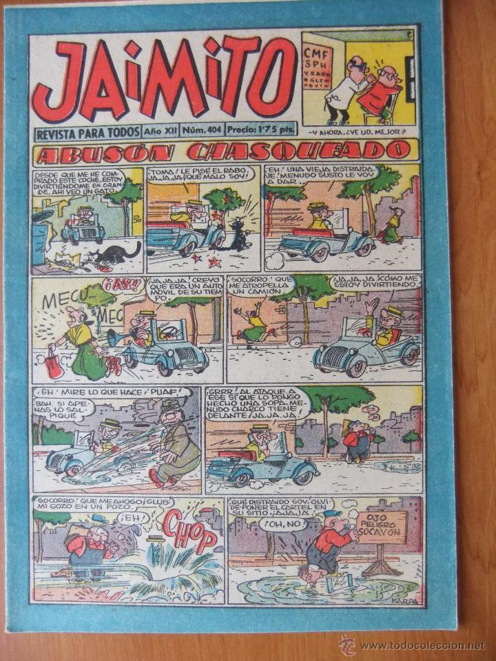 JAIMITO Nº 404 EDITORIAL VALENCIANA MAGNIFICO ESTADO (Tebeos y Comics - Valenciana - Jaimito)