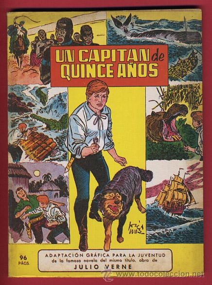 EL CAPITAN DE QUINCE AÑOS , VALENCIANA , PEQUEÑO FORMATO , 93 PAGINAS , ORIGINAL (Tebeos y Comics - Valenciana - Jaimito)