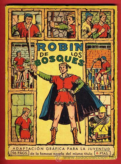 ROBIN DE LOS BOSQUES , VALENCIANA , PEQUEÑO FORMATO , 93 PAGINAS , ORIGINAL (Tebeos y Comics - Valenciana - Jaimito)