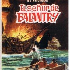 Tebeos: CLASICOS ILUSTRADOS. Nº 5. EL SEÑOR DE BALANTRY. R.L. STEVENSON. EDITORIAL VALENCIANA.. Lote 45961250