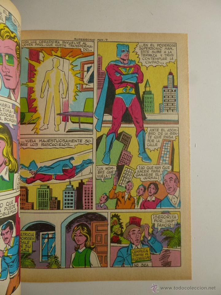 Tebeos: COLOSOS DEL COMIC , SUPERSONIC MAN NºS 1, 2, 3, 4 , VALENCIANA 1979 - Foto 3 - 132303135