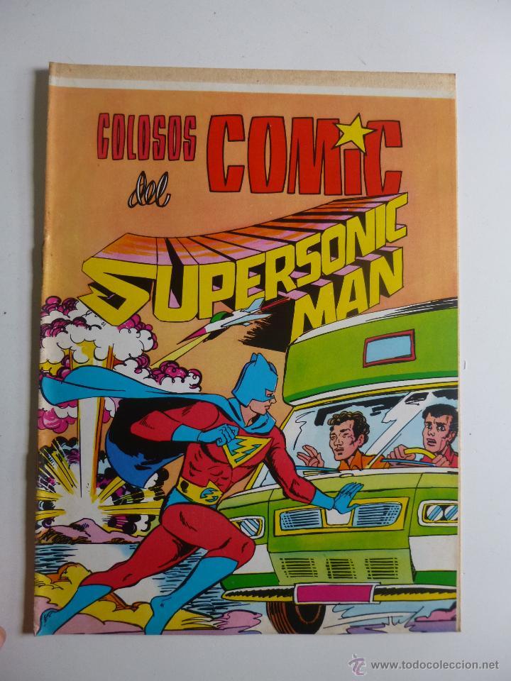Tebeos: COLOSOS DEL COMIC , SUPERSONIC MAN NºS 1, 2, 3, 4 , VALENCIANA 1979 - Foto 4 - 132303135