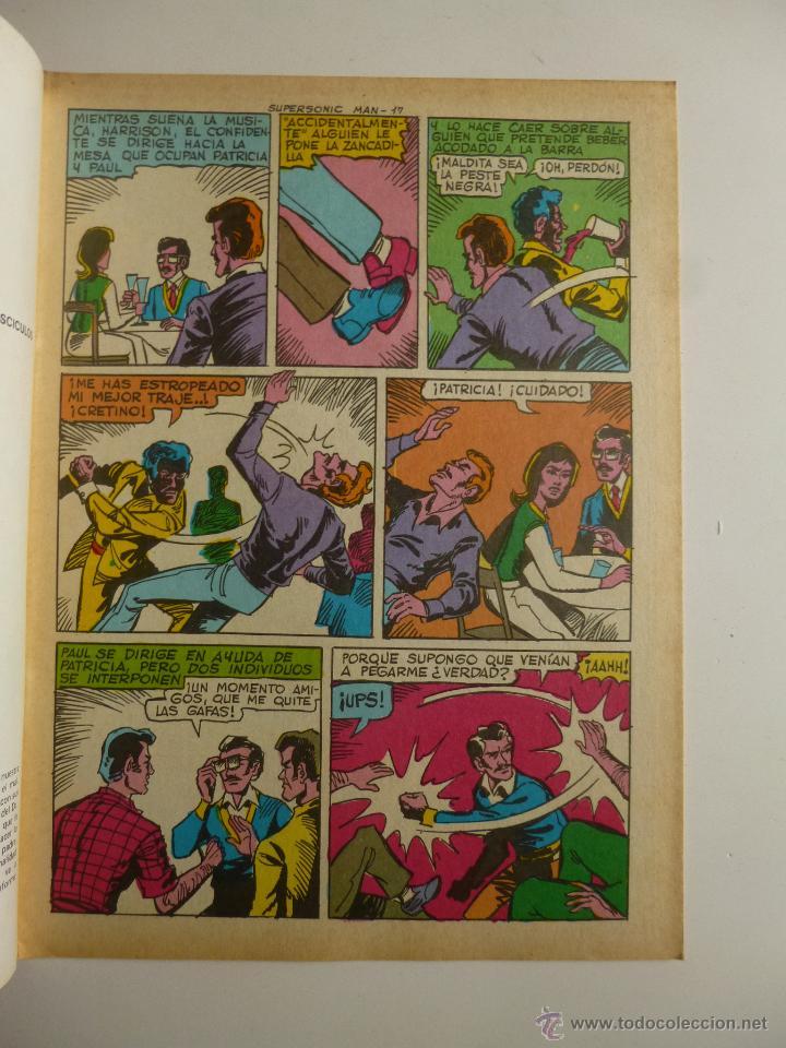 Tebeos: COLOSOS DEL COMIC , SUPERSONIC MAN NºS 1, 2, 3, 4 , VALENCIANA 1979 - Foto 5 - 132303135