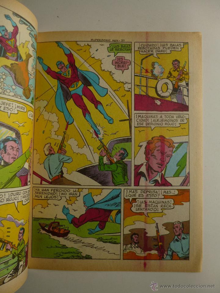 Tebeos: COLOSOS DEL COMIC , SUPERSONIC MAN NºS 1, 2, 3, 4 , VALENCIANA 1979 - Foto 7 - 132303135