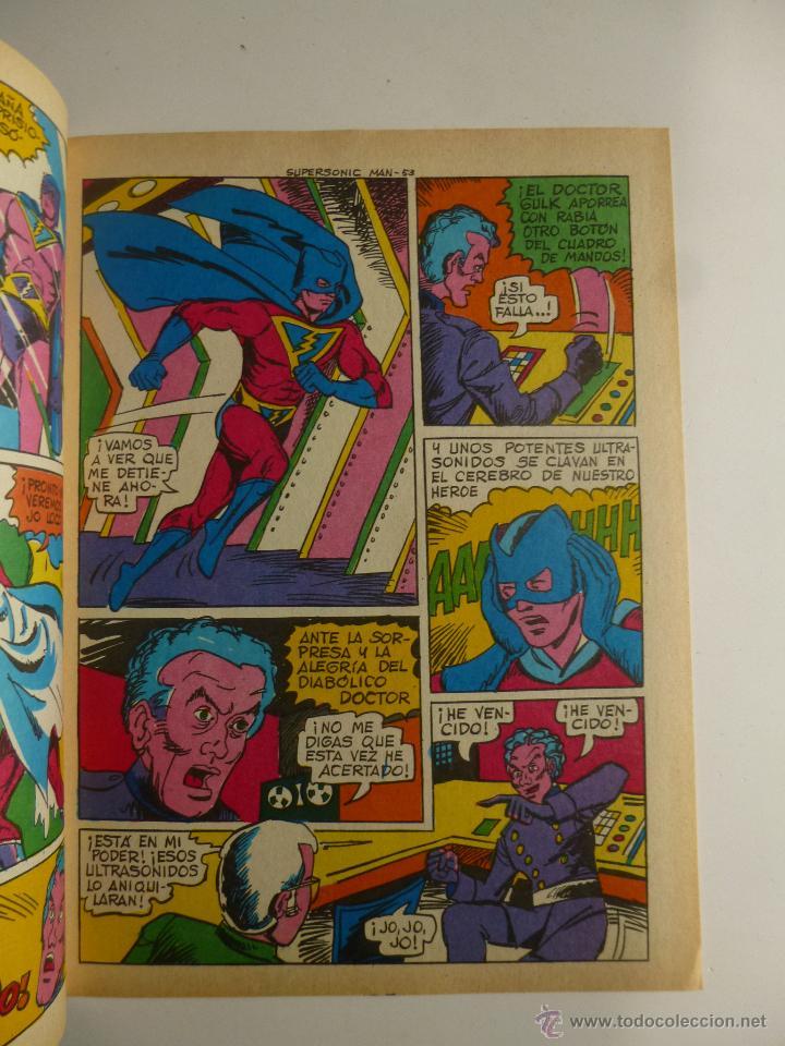 Tebeos: COLOSOS DEL COMIC , SUPERSONIC MAN NºS 1, 2, 3, 4 , VALENCIANA 1979 - Foto 9 - 132303135