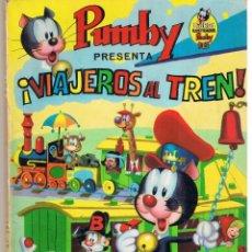 Tebeos: LIBROS ILUSTRADOS PUMBY. PRESENTA: ¡VIAJEROS AL TREN!. EDITORIAL VALENCIANA 1968.. Lote 46400804