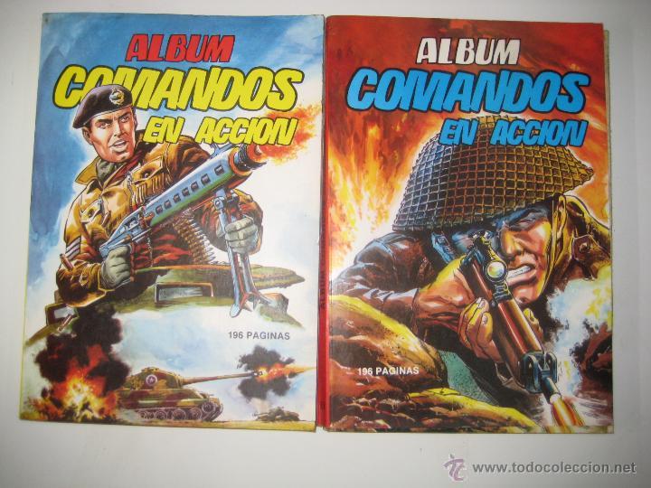 ÁLBUM COMANDOS EN ACCIÓN Nº 1 Y 2 (RETAPADO CON LOS NÚMEROS DEL 1 AL 6 ) VALENCIANA 1982 OFRT (Tebeos y Comics - Valenciana - Selección Aventurera)