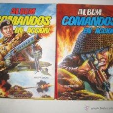 Tebeos: ÁLBUM COMANDOS EN ACCIÓN Nº 1 Y 2 (RETAPADO CON LOS NÚMEROS DEL 1 AL 6 ) VALENCIANA 1982 OFRT. Lote 126606319