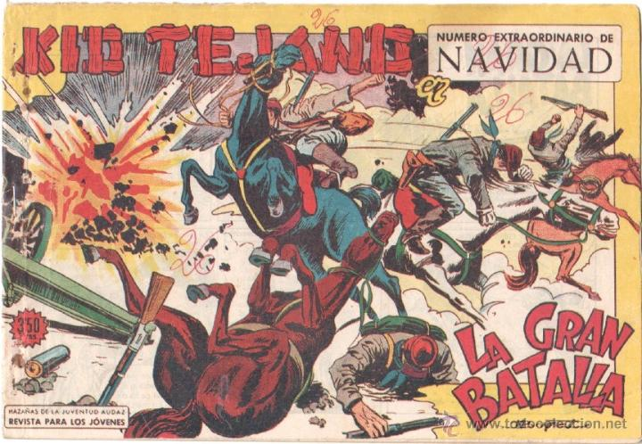 KID TEJANO Nº 26 EXTRAORDINARIO DE NAVIDAD 1961 ORIGINAL, EDITORIAL VALENCIANA 16,5 X 24 CMS. (Tebeos y Comics - Valenciana - Otros)