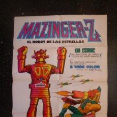 Tebeos: PÓSTER CARTEL PUBLICITARIO MAZINGER Z ( SANCHIS ) . EDITORIAL VALENCIANA 1978 68X48 CM.. Lote 54662770