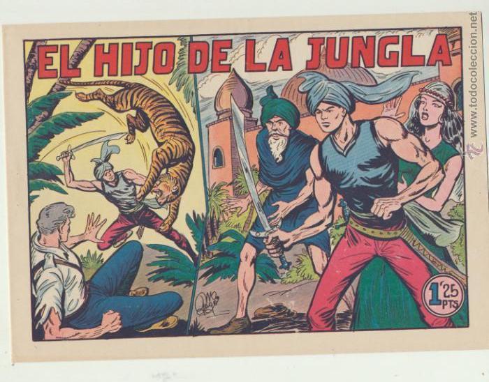 EL HIJO DE LA JUNGLA. COLECCIÓN COMPLETA 86 EJEMPLARES. VALENCIANA 1956. SIN ABRIR - RARA ASÍ. (Tebeos y Comics - Valenciana - Hijo de la Jungla)