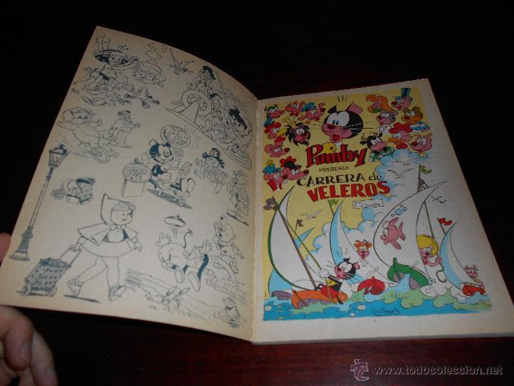 Tebeos: LIBROS ILUSTRADOS PUMBY , Nº 28 , CARRERA DE VELEROS , VALENCIANA , ORIGINAL 1970 - Foto 2 - 47282822