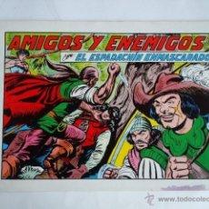 Tebeos: EL ESPADACHIN ENMASCARADO Nº 39 - AMIGOS Y ENEMIGOS - VALENCIANA 1982. Lote 47450738