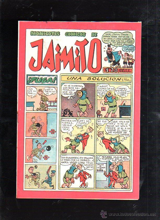 MONIGOTES COMICOS DE JAIMITO. UNA SOLUCION. EDITORIAL VALENCIANA (Tebeos y Comics - Valenciana - Jaimito)