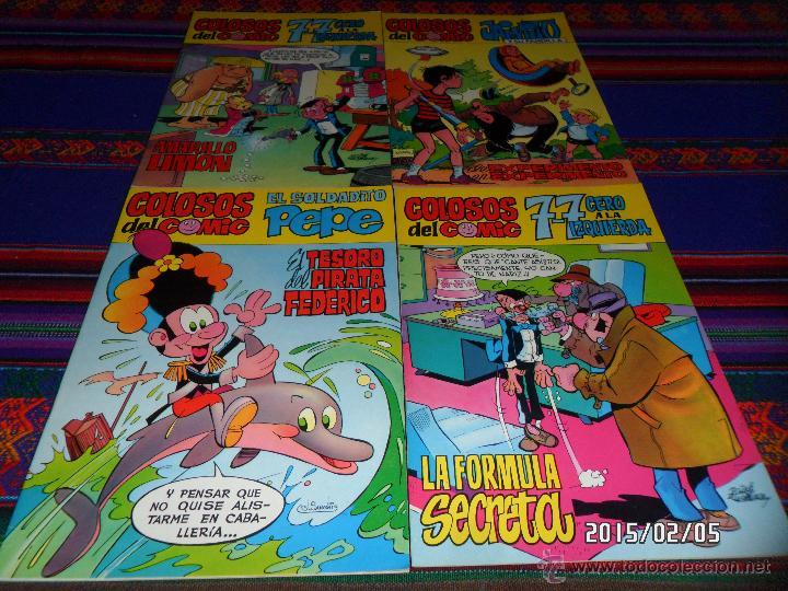 COLOSOS DEL COMIC NºS 1 2 3 4, 7-7 CERO A LA IZQUIERDA SOLDADITO PEPE JAIMITO SU PANDILLA VALENCIANA (Tebeos y Comics - Valenciana - Colosos del Comic)