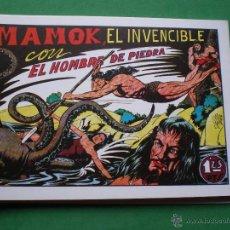 Tebeos: EL HOMBRE DE PIEDRA EDITORIAL VALENCIANA BLANCO/NEGRO HORIZONTAL.EDICION FACSIMIL 9 PDELUXE. Lote 47723796