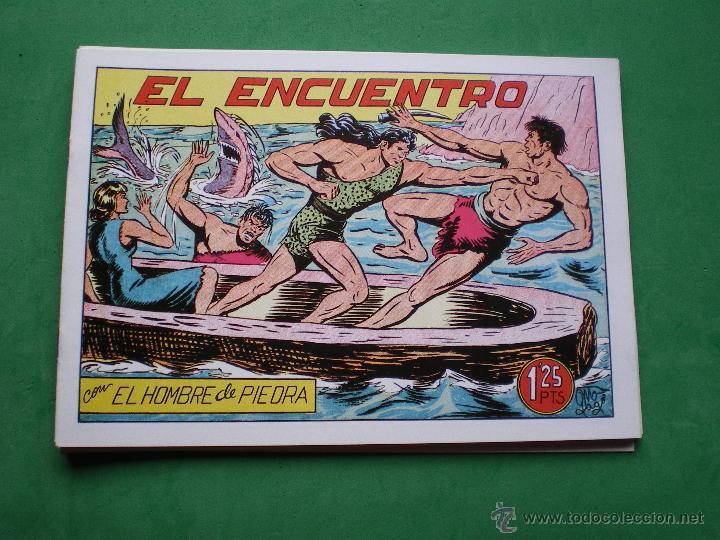 Tebeos: EL HOMBRE DE PIEDRA EDITORIAL VALENCIANA Blanco/Negro Horizontal.Edicion Facsimil 9 PDELUXE - Foto 3 - 47723796