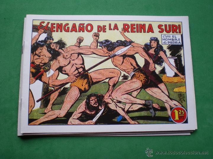 Tebeos: EL HOMBRE DE PIEDRA EDITORIAL VALENCIANA Blanco/Negro Horizontal.Edicion Facsimil 9 PDELUXE - Foto 4 - 47723796