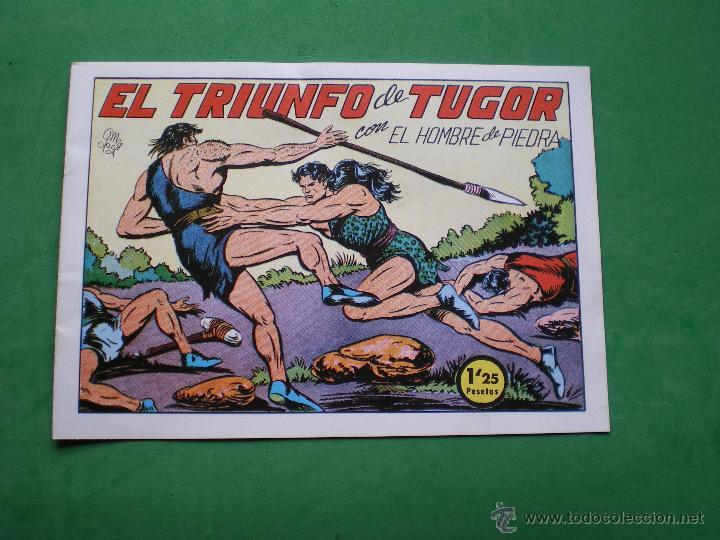 Tebeos: EL HOMBRE DE PIEDRA EDITORIAL VALENCIANA Blanco/Negro Horizontal.Edicion Facsimil 9 PDELUXE - Foto 9 - 47723796