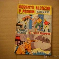 Tebeos: ROBERTO ALCAZAR Y PEDRÍN EXTRA Nº 15, EDITORIAL VALENCIANA. Lote 48167455