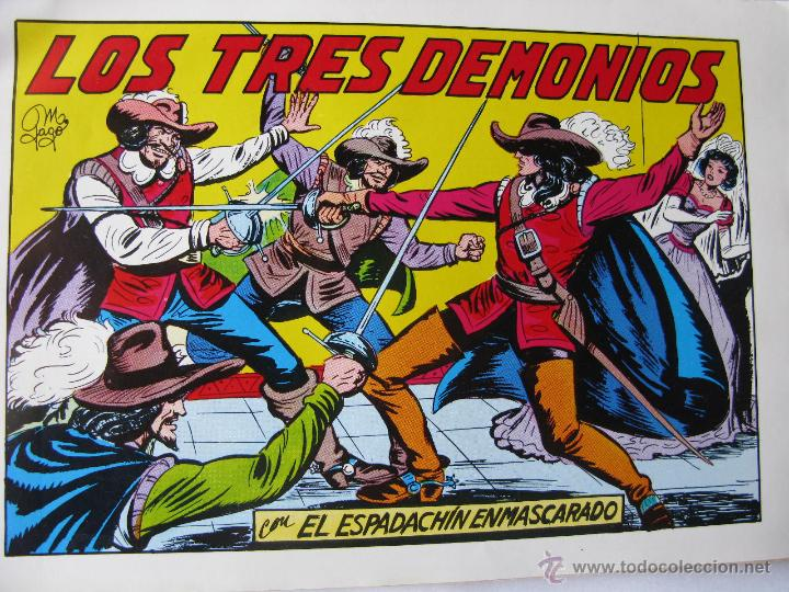 Tebeos: EL ESPADACHIN ENMASCARADO. LOTE DE 3 (NROS. 24, 34 Y 35). VALENCIANA. 1981 - 1982. - Foto 3 - 49128836
