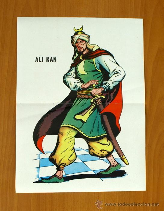 GUERRERO DEL ANTIFAZ - POSTER DE ALI KAN, TAMAÑO 36X26 (Tebeos y Comics - Valenciana - Guerrero del Antifaz)