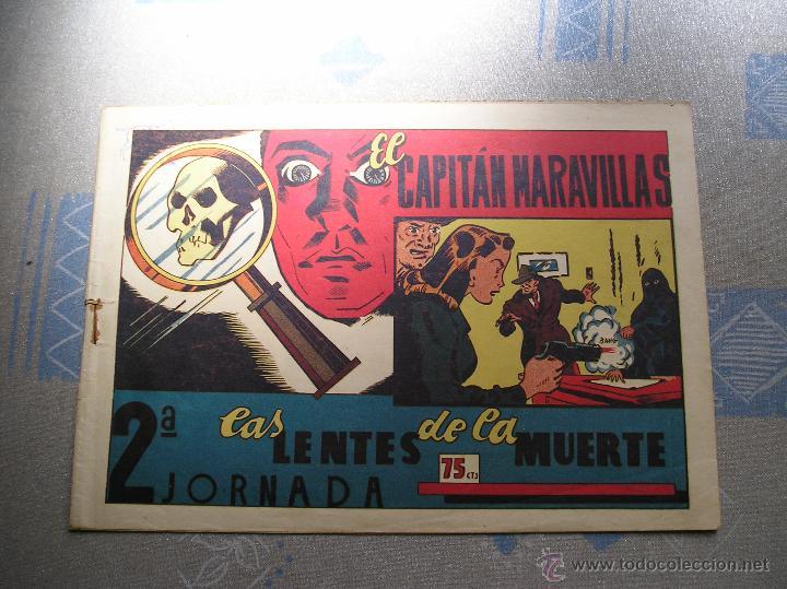 EL CAPITAN MARAVILLAS ¡¡ ORIGINAL !!. 2ª JORNADA. LAS LENTES DE LA MUERTE. FOTOS TODAS PAGINAS (Tebeos y Comics - Valenciana - Otros)