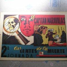 Tebeos: EL CAPITAN MARAVILLAS ¡¡ ORIGINAL !!. 2ª JORNADA. LAS LENTES DE LA MUERTE. FOTOS TODAS PAGINAS. Lote 49768085