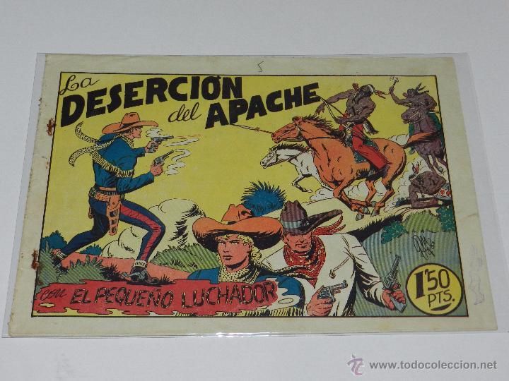 (M-1) EL PEQUEÑO LUCHADOR NUM 28 LA DESERCION DEL APACHE, EDC VALENCIANA , SEÑALES DE USO (Tebeos y Comics - Valenciana - Pequeño Luchador)