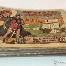 Tebeos: EL GUERRERO DEL ANTIFAZ. LOTE DE 66 NÚMEROS. SERIE ORIGINAL. EDITORIAL VALENCIANA. 1947-1952. Lote 51127744