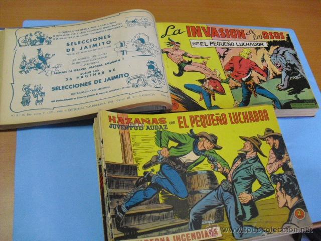 98 TEBEOS, DE EL PEQUEÑO LUCHADOR, EDITORIAL VALENCIANA 1965, 50 EN UN TOMO 48 SUELTOS, (Tebeos y Comics - Valenciana - Pequeño Luchador)