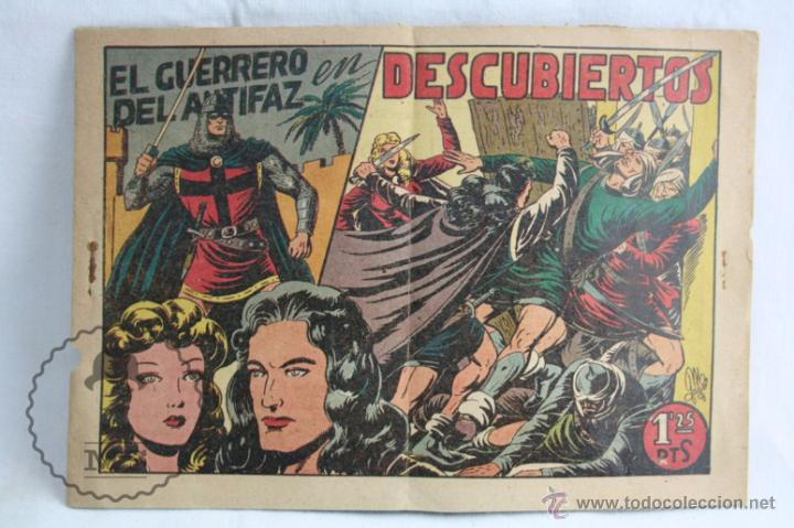 CÓMIC EL GUERRERO DEL ANTIFAZ. Nº 77. DESCUBIERTOS - ED. VALENCIANA, AÑO 1948 (Tebeos y Comics - Valenciana - Guerrero del Antifaz)