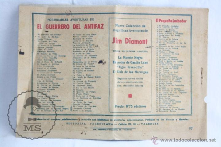 Tebeos: Cómic El Guerrero del Antifaz. Nº 77. Descubiertos - Ed. Valenciana, Año 1948 - Foto 4 - 51417455
