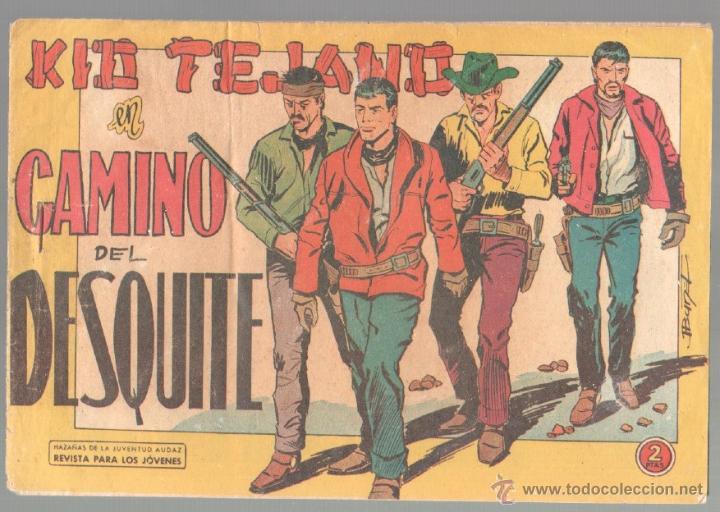 KID TEJANO ORIGINAL Nº 54 EDI. VALENCIANA 1961 - MUY DIFICIL, BUEN ESTADO (Tebeos y Comics - Valenciana - Otros)
