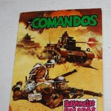 Tebeos: COMIC, COMANDOS Nº 4, BAYONETAS CALADAS, EDITORA VALENCIANA 1981. Lote 51664025