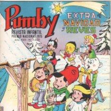 Tebeos: PUMBY ORIGINAL Nº 1050 EXTRA DE NAVIDAD Y REYES 1977 - SANCHÍS, KARPA,SIFRÉ, PALOP, E.CERDAN ,CREMA. Lote 51768062