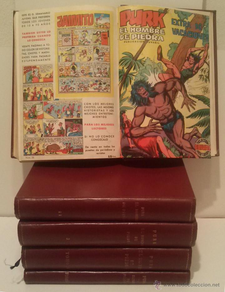PURK EL HOMBRE DE PIEDRA - COMPLETA: 114 NÚMEROS MAS 4 EXTRAS - AÑOS 1974-1976 - CINCO TOMOS (Tebeos y Comics - Valenciana - Purk, el Hombre de Piedra)