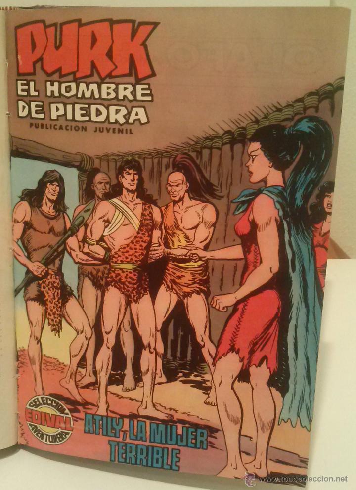 Tebeos: PURK EL HOMBRE DE PIEDRA - COMPLETA: 114 NÚMEROS MAS 4 EXTRAS - AÑOS 1974-1976 - CINCO TOMOS - Foto 5 - 51891539