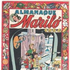 Tebeos: MARILÓ ALMANAQUE 1954 ORIGINAL EDI. VALENCIANA 1953 - COMO NUEVO. Lote 52007481