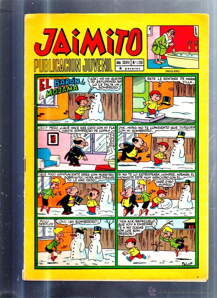 PUBLICACION JUVENIL JAIMITO. AÑO XXVII. Nº 1159. EDITORIAL VALENCIANA (Tebeos y Comics - Valenciana - Jaimito)