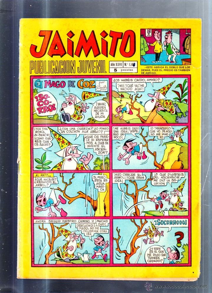 PUBLICACION JUVENIL JAIMITO. AÑO XXVI. Nº 1146. EDITORIAL VALENCIANA (Tebeos y Comics - Valenciana - Jaimito)