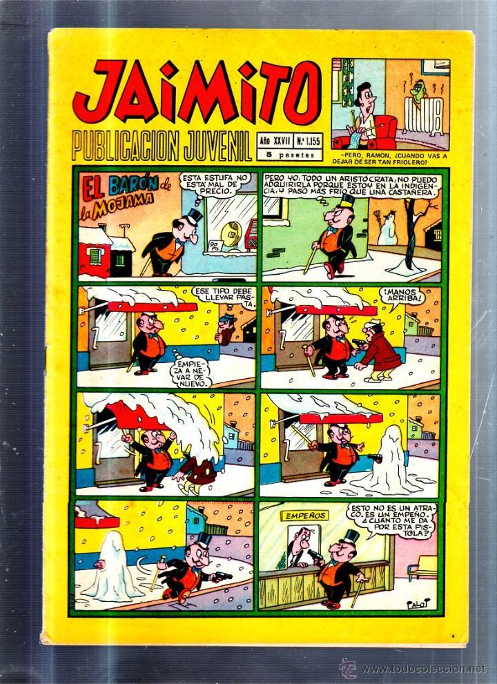 PUBLICACION JUVENIL JAIMITO. AÑO XXVII. Nº 1155. EDITORIAL VALENCIANA (Tebeos y Comics - Valenciana - Jaimito)