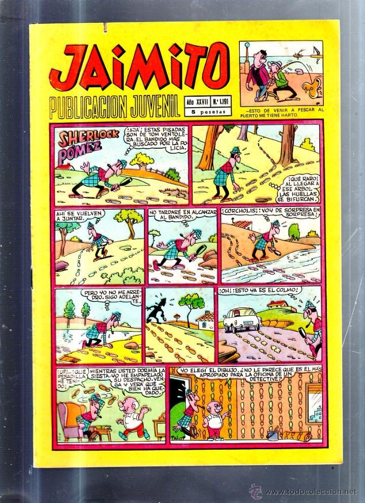 PUBLICACION JUVENIL JAIMITO. AÑO XXVII. Nº 1191. EDITORIAL VALENCIANA (Tebeos y Comics - Valenciana - Jaimito)