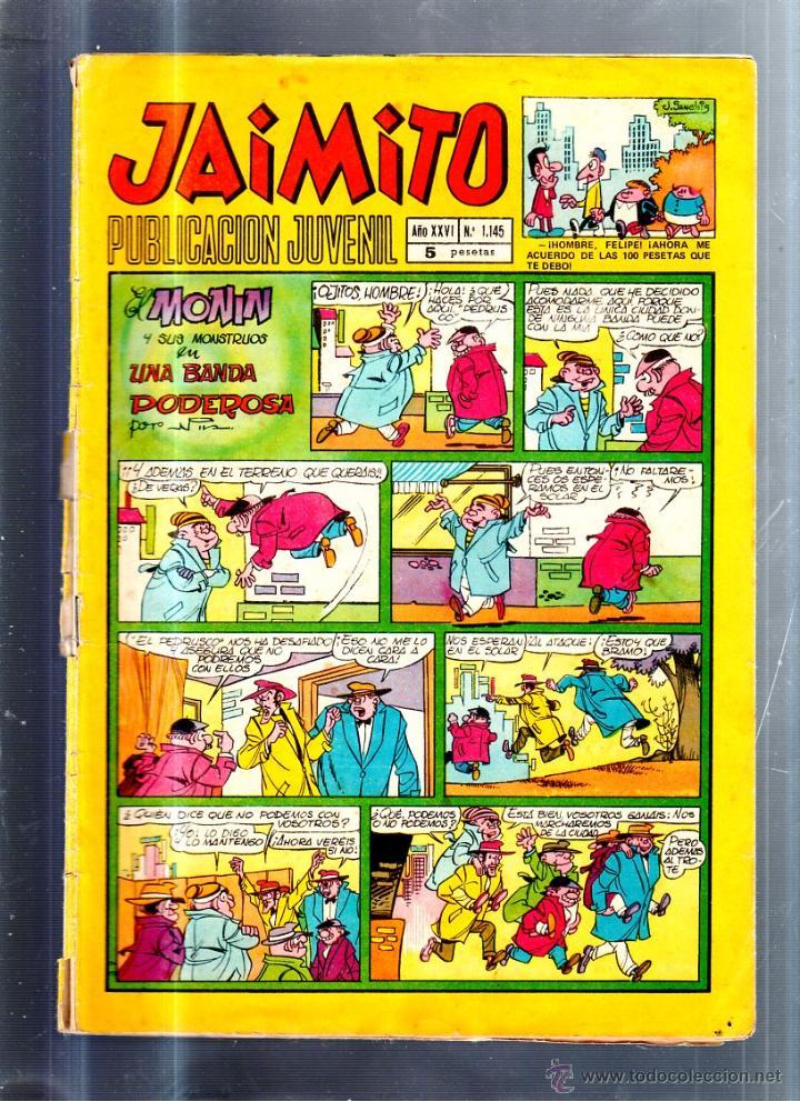 PUBLICACION JUVENIL JAIMITO. AÑO XXVI. Nº 1145. EDITORIAL VALENCIANA (Tebeos y Comics - Valenciana - Jaimito)